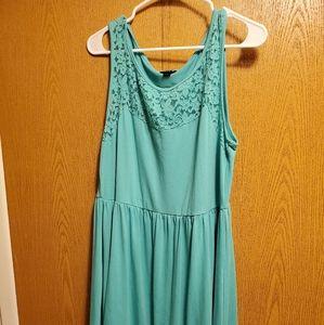 TORRID AQUA BLUE LACE COTTON DRESS